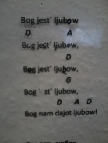 Gott ist Liebe russisch
